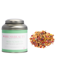 BRUSHBEAUTY fresh flower tea & theeblik