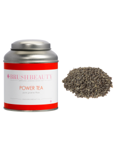 BRUSHBEAUTY power tea & theeblik