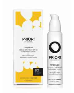 PRIORI Tetra fx250 Broad Spectrum SPF 45 High Protection Sunscreen Lotion