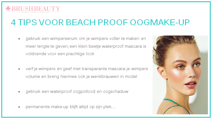 beach proof oogmake-up